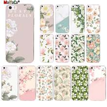 MaiYaCa luxo Branco Blooming Flores folha Verde mármore Cliente Caixa Do Telefone para o iphone 11 XS pro MAX 8 7 6 6S Plus X 5 5S SE XR(China)
