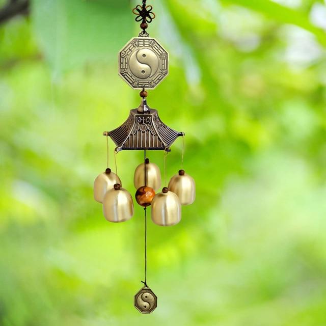 Χάλκινο wind chimes Κρεμαστό για καλό feng shui στο σπίτι