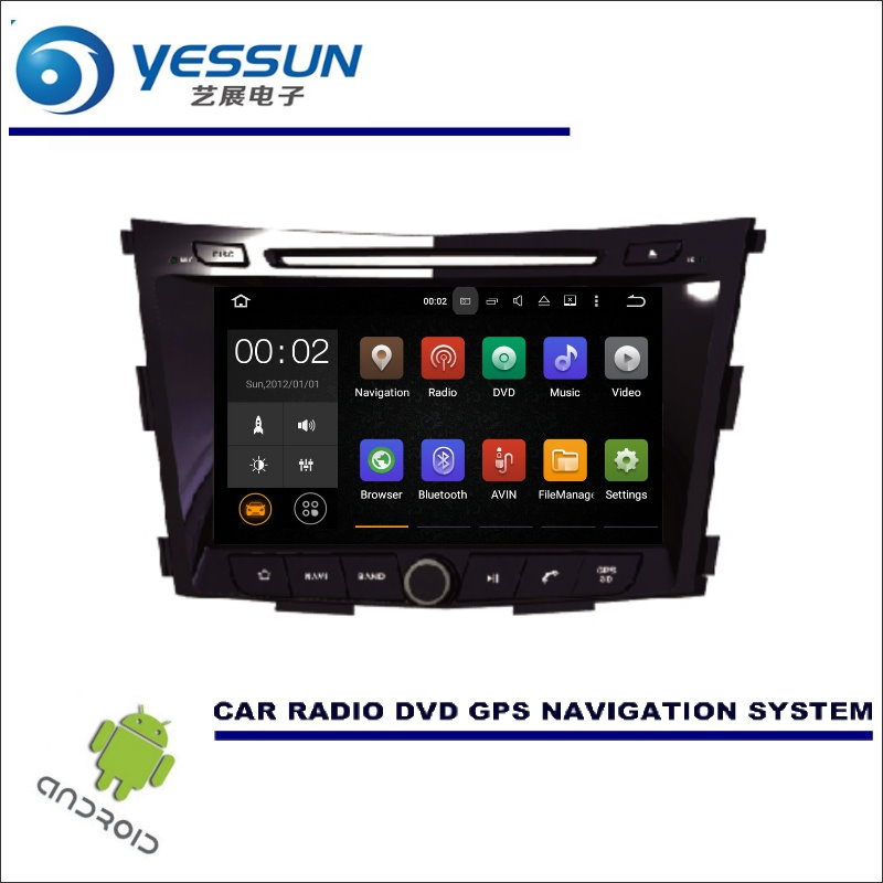 Car Stereo GPS Navi Radio Multimedia Bluetooth for SsangYong Tivoli 2015-2017