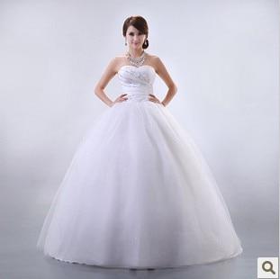 2016 bride wedding elegant sweet princess wedding dress tube top typetrans parent dress with sequins luxurious wedding dress