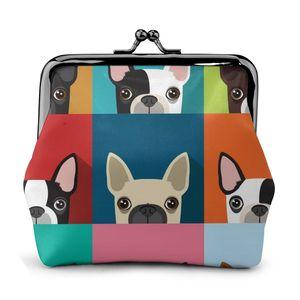 Женский кошелек для монет, держатель для карт, кошелек Boston Terrier (2), металлическая рамка, сменный кошелек для девочек, маленькая губная помада,...