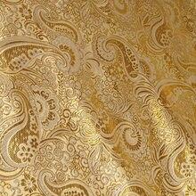 アフリカ光沢のあるジャガードペイズリー錦織薄型ドレス、diyの結婚式のアパレル縫製生地のパッチワークtecido布、Width148cm