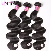 UNICE HAAR Brasilianische Körper Welle Haarwebart Bundles Natürliche Farbe 100% Menschliches Haar weben 1/3/4 Stück 8-30 Remy Haar Extensions