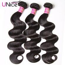 UNICE HAIR Brazilian Body Wave Hair Weave Bundles Natural Color 100% Human Hair weave 1/3/4 Piece 8-30