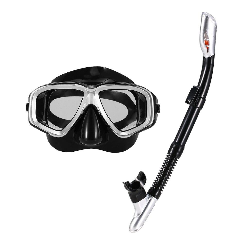 Anti-Fog Adult Snorkel Mask PVC Swinmming Scuba Goggles Purge Valves Set