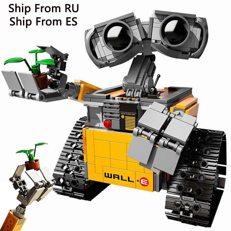 Legoing criador série idéia robô parede e compatível legoings filmes 2 figuras de ação 687 peças blocos construção crianças brinquedos bem e