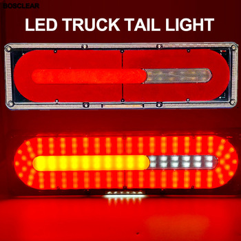 Truck Trailer Lorry LED Taillight Lamp LED Trailer Flowing Turn Signal Brake Marker Lights Car External Light Warning Tail Light