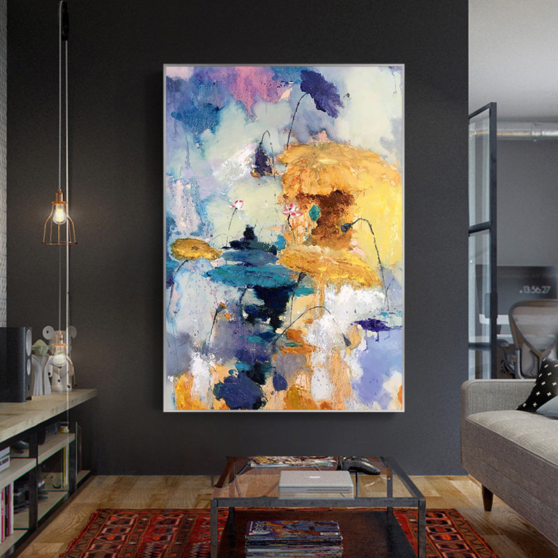 100-Hand-Painted-Abstract-Colourful-Scenerys-Art-Painting-On-Canvas-Wall-Art-Wall-Adornment-Pictures-For