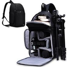 CADeN kamera çantası sırt çantaları omuz Sling çanta su geçirmez naylon darbeye dayanıklı çizilmeye dayanıklı DSLR erkekler kadınlar için Canon Nikon Sony