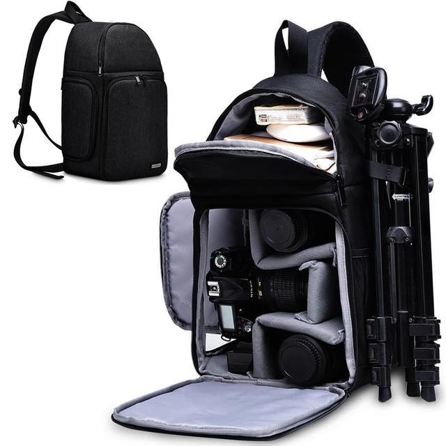 Cadenカメラバッグバックパックショルダースリングバッグ防水ナイロン耐震スクラッチにくい一眼レフ男性女性用