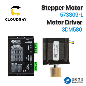 цена на Leadshine Nema 23 Open Loop Stepper Motor Kit 3 Phase Stepper Motor 0.9N.m/1.5N.M 573S09-L-18/573S15-L-18+Driver 3DM580