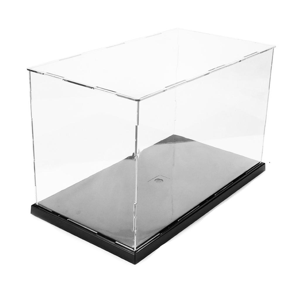 Transparent Acrylic Display Shelf Assembly Toy Collectibles Models Dustproof Display Cases Building Kit For Boys Cabinets