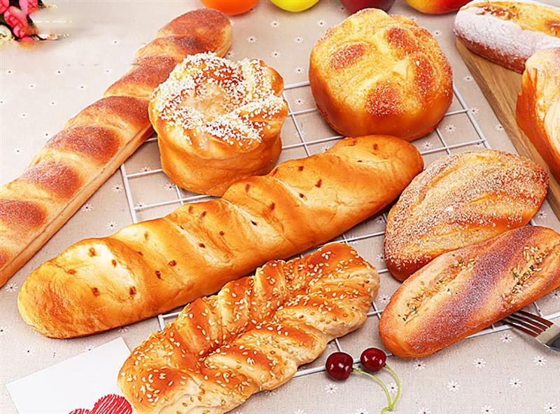 1pc Lifelike Artificial Long Bread Simulation French Loaf Of Bread Food Model Photography Props Home Decoration
