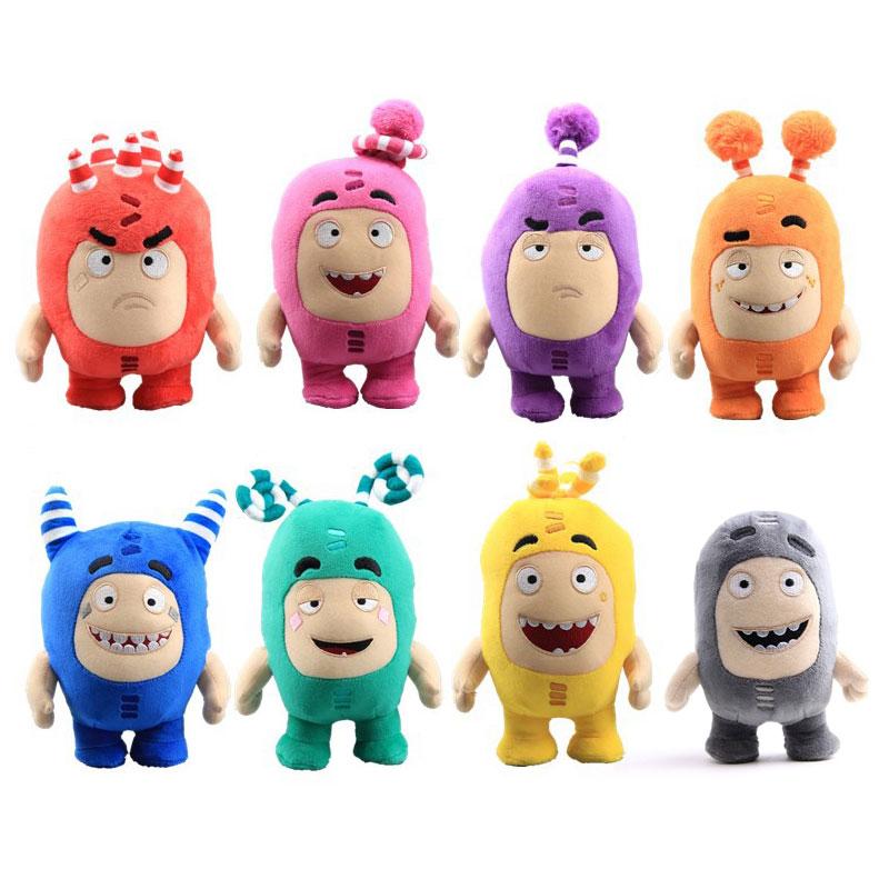 8 Style 15-17cm Oddbods Cartoon Plush Toys Cute Soft Fuse Pogo Bubbles Slick Zeke Jeff Plush Doll Toys For Kids Christmas Gift