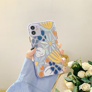 Image 3 - oil painting Transparent peony Flower Phone Case For iPhone 11 12 Pro Max 7 8Plus X XR XS Max TPU Plant Leaves Floral Back Cover