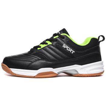 Męskie sportowe stabilność antypoślizgowe Ping Pong buty męskie oddychające buty do tenisa stołowego buty tenisowe siatkówka trampki D0888 tanie i dobre opinie ssalena CN (pochodzenie) Dobrze pasuje do rozmiaru wybierz swój normalny rozmiar Spring2019 Sztuczna skóra + tkaniny