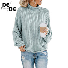 купить Casual Loose Autumn Winter Turtleneck Sweater Women Oversize Solid Knitted Sweaters Warm Long Sleeve Pullover Sweater по цене 1888.15 рублей