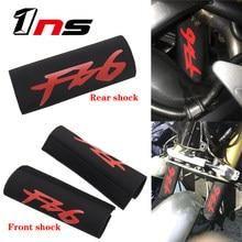 Couverture de Protection de fourche avant en tissu extensible pour Yamaha FZ6 Fazer FZ, couverture de Suspension pour amortisseur arrière de moto
