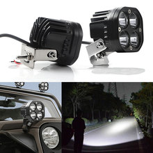 3 Inch 40W LED Work Light 4000LM 6000K White Spotlight Car Working Lamp 12V 24V 4x4 accessories off road luces led para auto