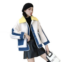 Natural Real Fur Coat Women Korean Autumn Winter Coat Women Clothes 2020 Vintage Sheep Shearling Wool Jacket Warm Top Hiver 9899(China)