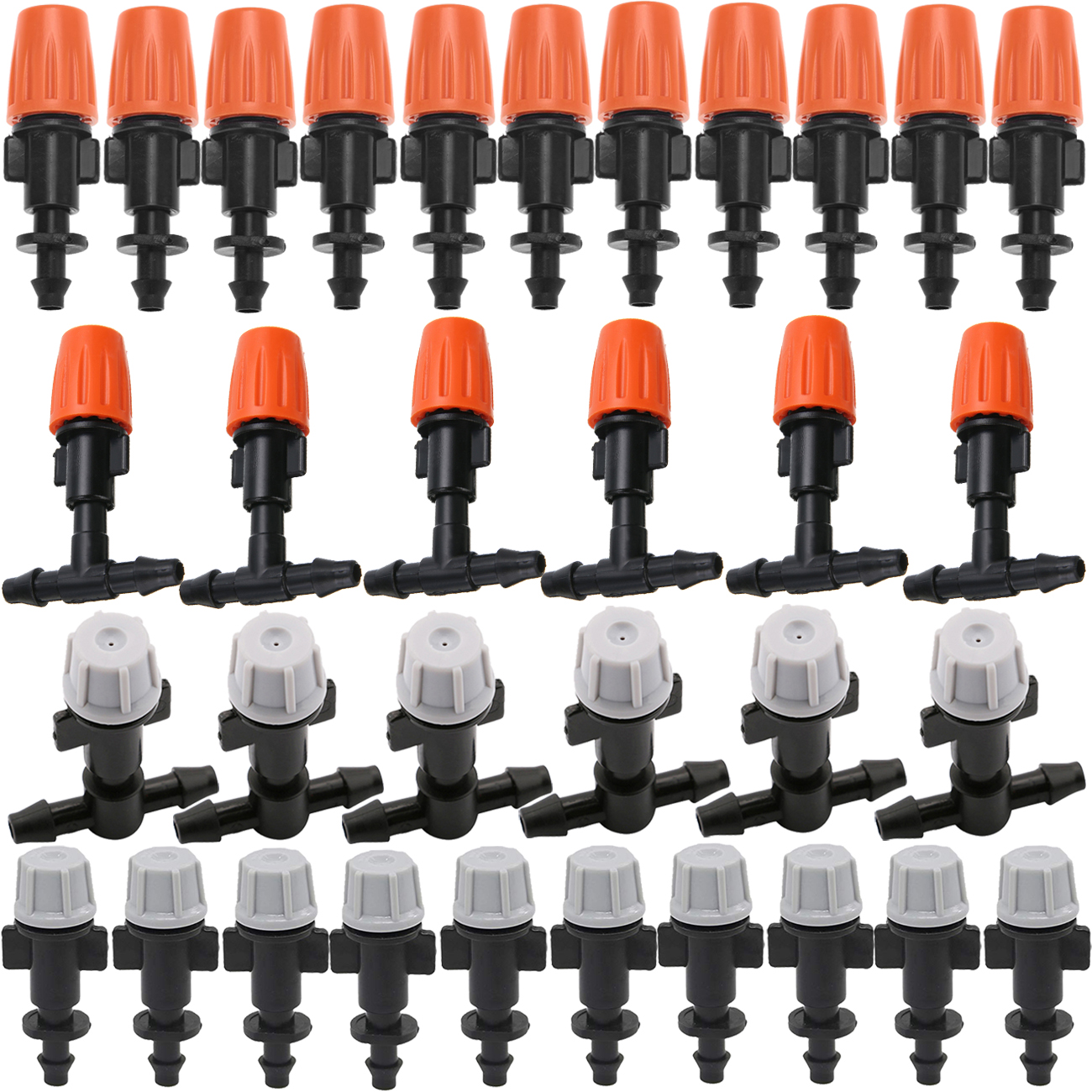 20 шт микро капельного орошения насадка распылителя излучатель Мелкодисперсный распылитель w/4/7 мм бывает 2 типов: один/двойная колючая 6 мм р...