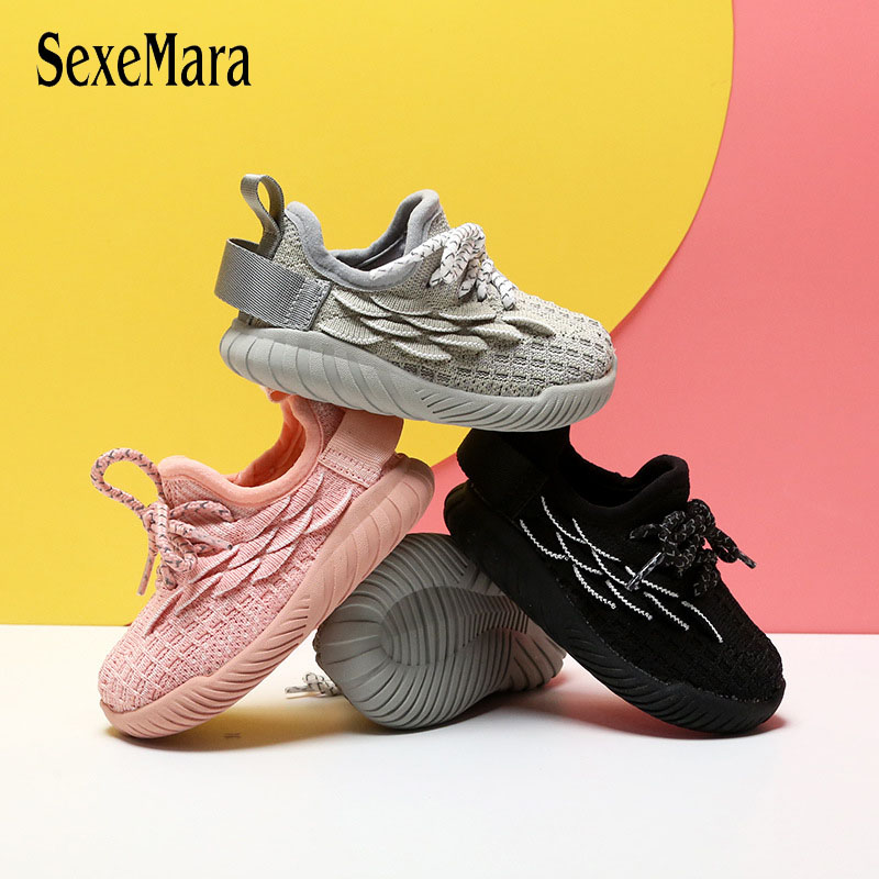 Knitted Baby Tennis Shoes First Walker Fish Scale Pattern Spring Autumn Walkering Shoes For Infant Casual Toddler Sneaker D01141