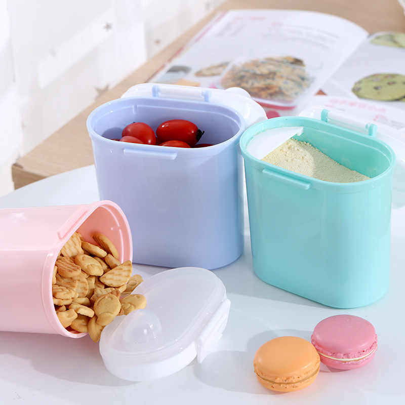 Baby Milk Powder Formula Storage Food Supplement Container Mini Sealed Portable Storage Box Baby Snack Refrigerated Box