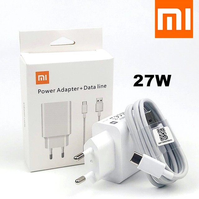 Original Xiaomi 27W Fast Charger QC 4.0 Turbo Charge adapter Usb C Cable for mi 9 SE 9T Pro max 3 A3 redmi note 7 8 k30 note 10