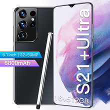 Global Version S21+Uitra 6.7Inch SmartPhone Galaxy 6800Mah Lithium-ion Big Battery 16+512G Android CellPhone 32MP+50MP Camera