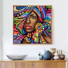 5d diy Алмазная картина вышивка крестом африканская леди Цветная