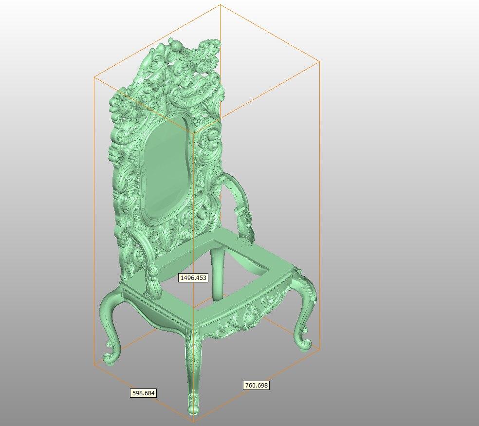 Ganze Set STL dateien für Stuhl Holz Möbel 3d Modell für CNC Router Stecher Maschine Relief Artcam C1