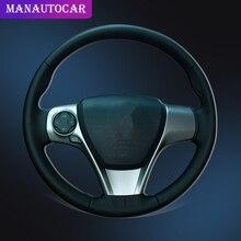 Trenza de coche en la cubierta del volante para Toyota Camry 2012 2013 2014 Venza 2013 2014 2015 fundas de volante de coche Interior