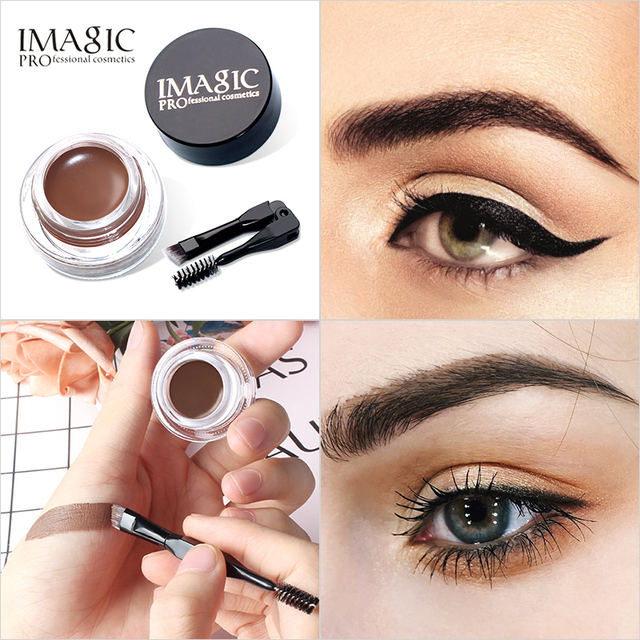 IMAGIC New Arrivals Professional Eyebrow Gel High Brow Tint Makeup Eyebrow Brown Eyebrow Gel With Brow Brush Tools 1