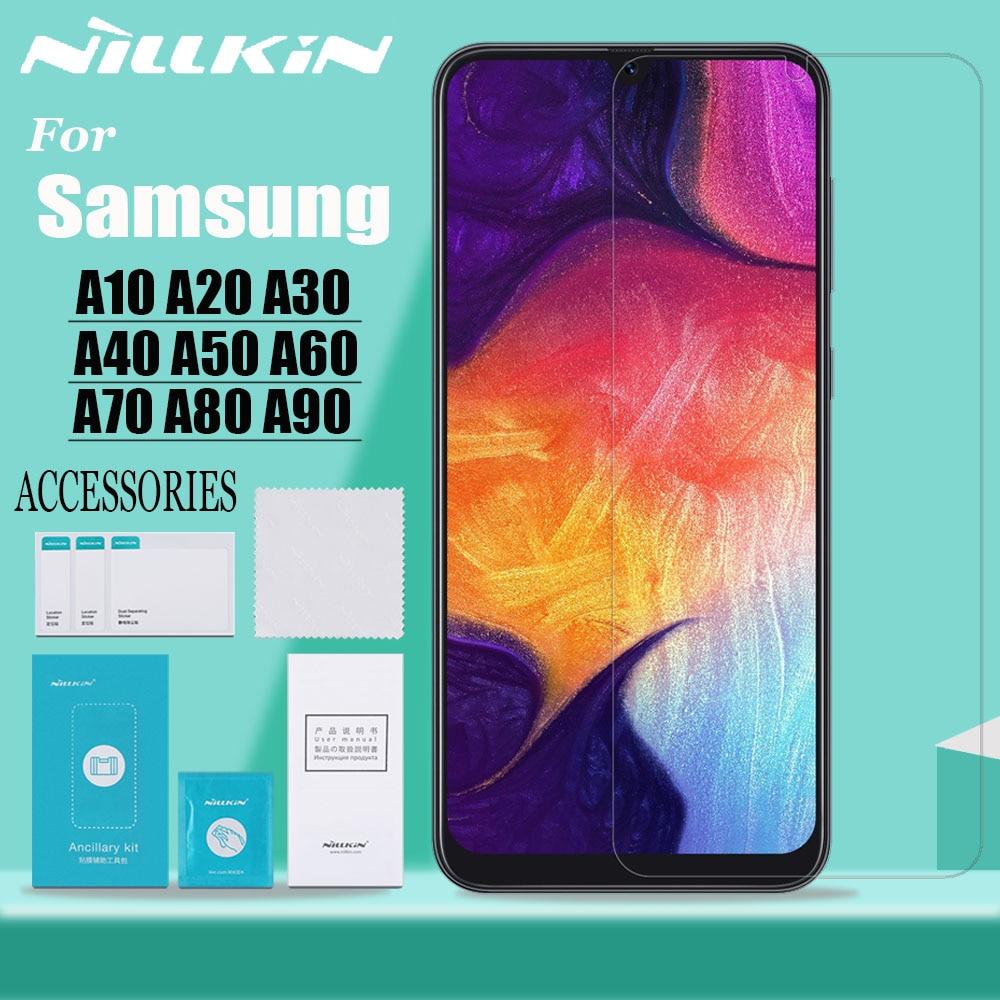 Vidro Nillkin para Samsung A10/A20/A30/A40/A50/A60/A70/A80/ a90 9H Duro Protetor de Tela Película Protetora de Vidro Temperado de Segurança