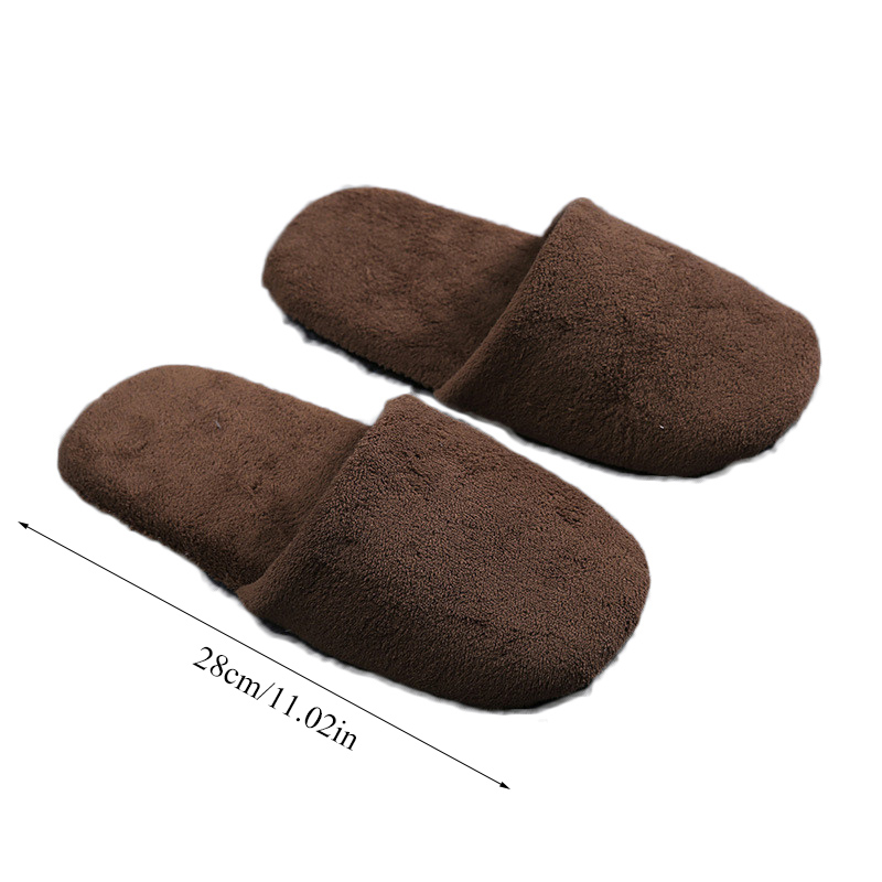 1 Pair Flock Bread Shoes Hotel Disposable Slippers Colorful winter Warm Home Women Slippers Bedroom Indoor Non-slip Slippers