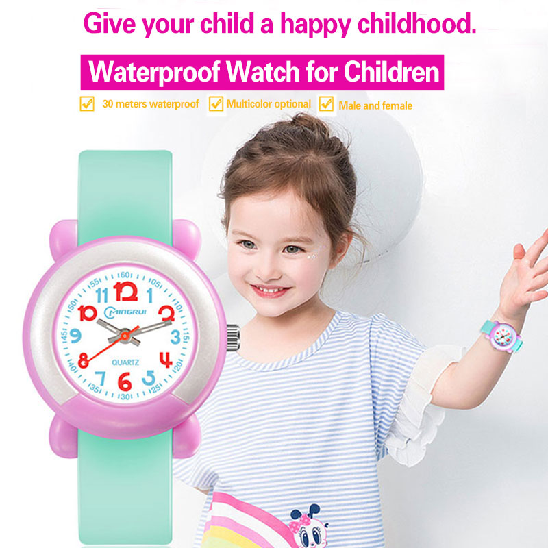Kids Wristwatch Girls Children\'s Watch Cute Simple Quartz Watch Children\'s Digital Watch Waterproof  Swimming Girl Watch