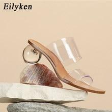 EilyKen-Zapatillas de tacón alto para Mujer, zapatos mujeres Sandalias transparentes a la moda, estilo extraño, para verano, tallas 41 42 43, 2021