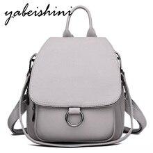 Szary plecak dla kobiet 2020 skórzany plecak o dużej pojemności damski plecak wysokiej jakości plecak torba na ramię dla młodzieży torby