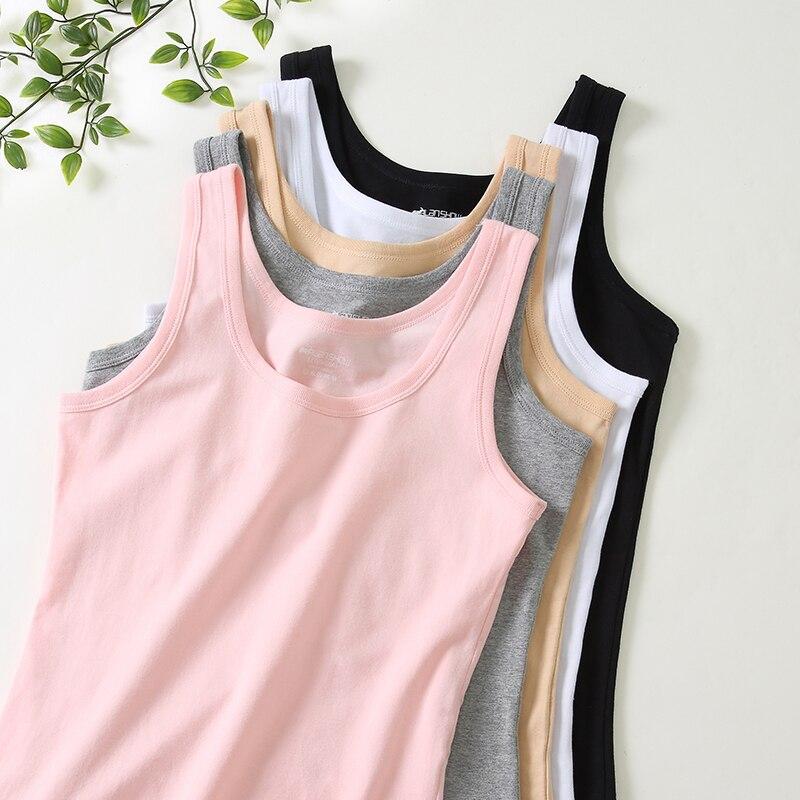 3pcs/lot Cotton Ladies Tank Tops Women Combed Cotton Camisoles Tank Women Vest Female Vest Girls Casual Solid Vests