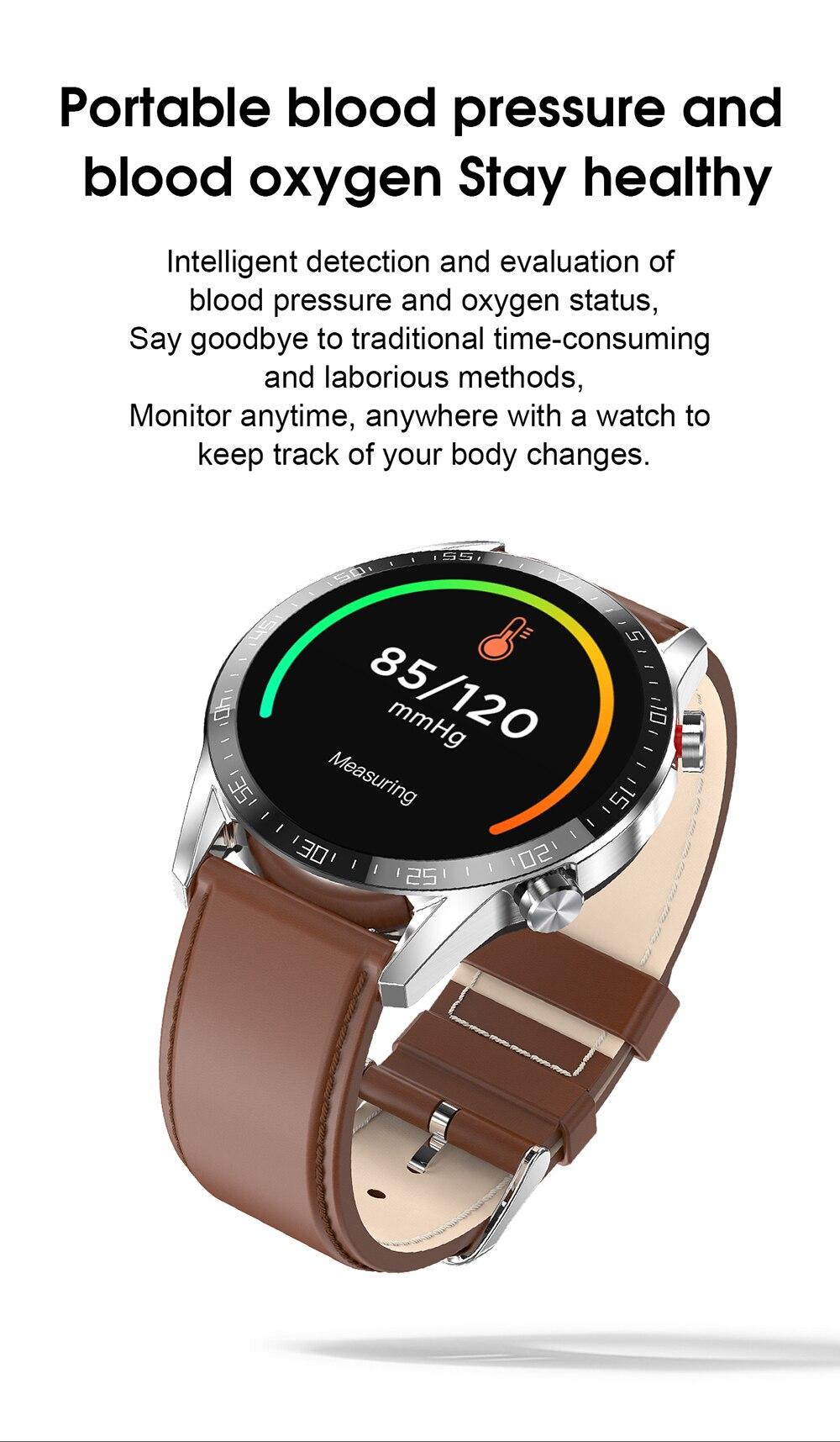 Relógio inteligente lado ultrafino tela redonda completa