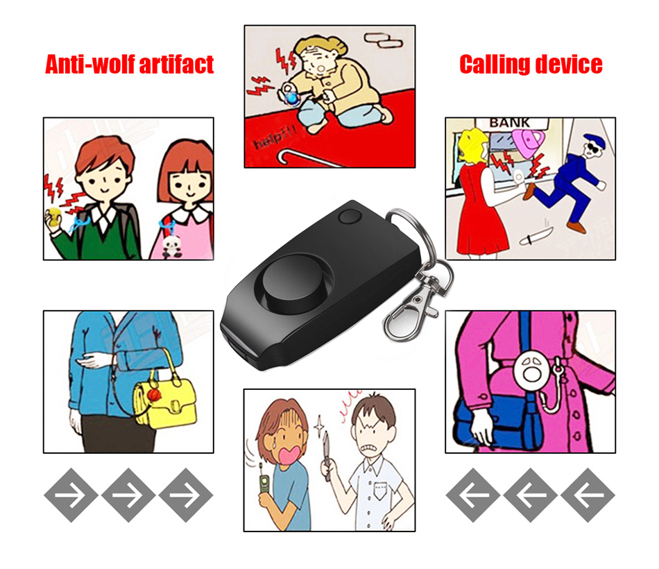 Image 2 - Self Defense mujer defensa personal safety alarm security wolf auto alarme seguridad anti rape whistle 130dB sound loud Keychain-in Self Defense Supplies from Security & Protection