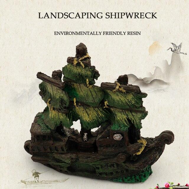 Sunken Pirate Shipwreck Aquarium Landscaping  4