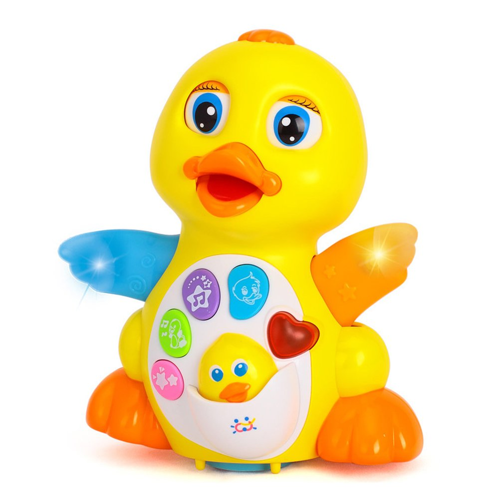 Swinging Big Yellow Duck Sing And Dance Duckling Toys Children's Educational Toys Electric Baby Toys
