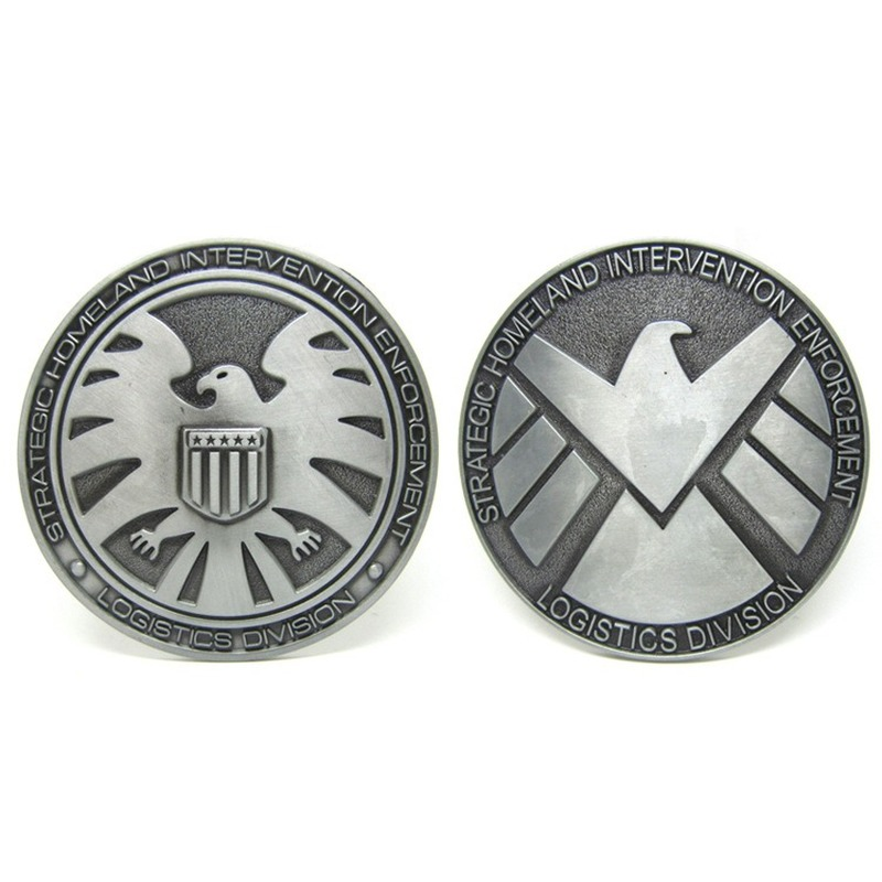 Agents Of SHIELD Pewter Finish Metal Belt Buckle For Men Women Western Buckles Metal Cowboy Fivela Marvel Boucle Ceinture