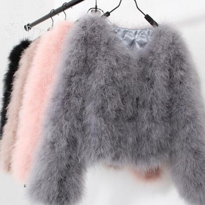 LET SETTING сексуальный страусиный пух Турция Настоящее меховое Женское пальто из натурального пера короткие большие размеры 7XL зимняя Праздничная куртка с длинными рукавами