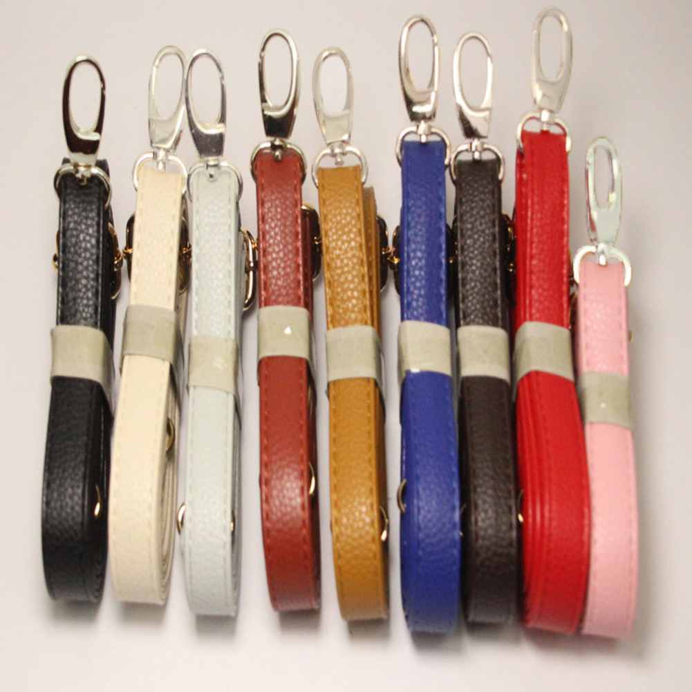 140cm PU Solid Color Bag Strap With Silver Hardware New Leather Shoulder Bag Strap DIY Purse Handle Women Handbags Belts Strap