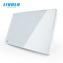 Livolo US Standard Glass panel , All Blank (For Decoration) , Crystal Glass Panel, 2 Colors