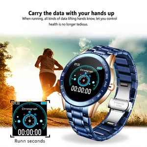 Image 5 - LIGE 2020 새로운 스마트 시계 남성 여성 스테인레스 스포츠 아이폰 심장 박동 모드 피트니스 트래커 smartwatch reloj inteligente Man