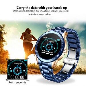 Image 5 - LIGE 2020 جديد ساعة ذكية الرجال النساء المقاوم للصدأ الرياضة آيفون وضع معدل ضربات القلب اللياقة البدنية المقتفي smartwatch reloj inteligente رجل