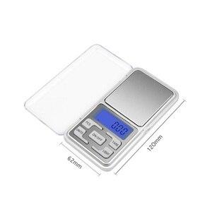 Image 2 - LED Digital Pocket Waagen 100g 200g 500g 0,01/0,1g küche Skala Precision Gramm Gewicht Elektronische balance Labor Skala